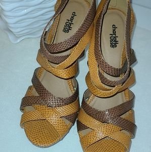 Tan and Brown WEDGE sandals